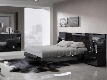 Кровать двуспальная FENICIA 505 ( 160 ) чёрная