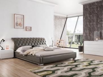 Кровать двуспальная ESF 1397 ( 180 ) серый