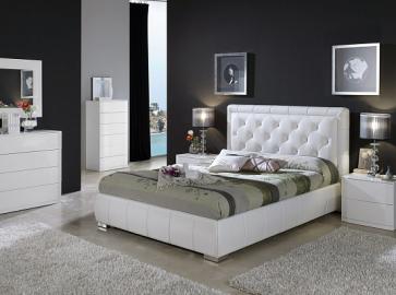 Кровать двуспальная DUPEN 661 Cinderella ( 180 ) белая