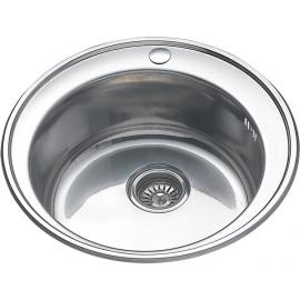 Кухонная мойка врезная круглая D 490мм