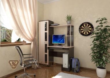 Стол компьютерный 1 Дуб Венге/Дуб млечный