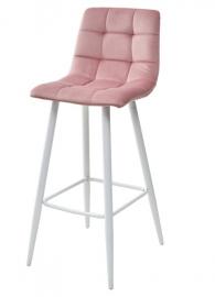 Барный стул LECCO PINK, велюр