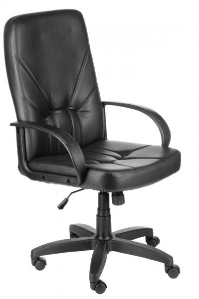 Компьютерный стул Менеджер ультра чёрный (кожзам)