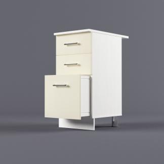 Шкаф напольный 400 х 850 х 600 с 3-мя выдвижными ящиками