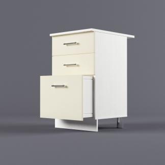 Шкаф напольный 500 х 850 х 600 с 3-мя выдвижными ящиками