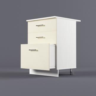 Шкаф напольный 600 х 850 х 600 с 3-мя выдвижными ящиками