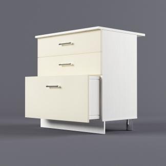 Шкаф напольный 800 х 850 х 600 с 3-мя выдвижными ящиками