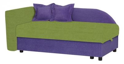 Диван детский Клевер 22 цвет фиолетово-зелёный