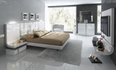 Кровать двуспальная FENICIA 514 ( 160 ) белая