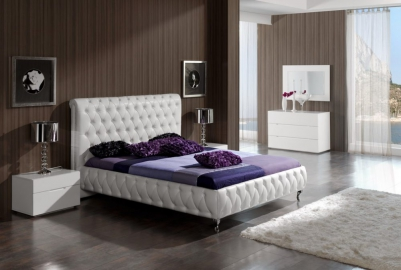 Кровать двуспальная DUPEN 629 Adriana ( 180 ) белая