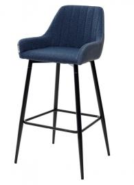 Барный стул PUNCH полночный синий / синяя сталь