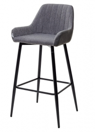 Барный стул PUNCH серый кварц / антрацит