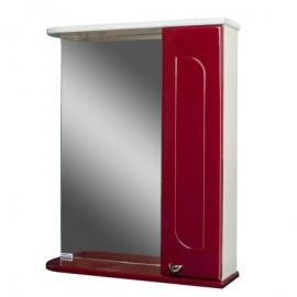 Шкаф навесной с зеркалом   РАДУГА 50 бордовый-R правый
