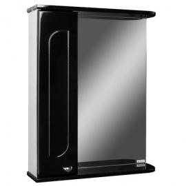 Шкаф навесной с зеркалом   РАДУГА 50   черный L левый