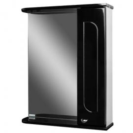 Шкаф навесной с зеркалом   РАДУГА 50   черный -R правый