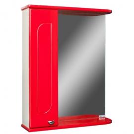 Шкаф навесной с зеркалом   РАДУГА 50 красный-L левый