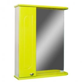 Шкаф навесной с зеркалом   РАДУГА 50 лайм-L левый