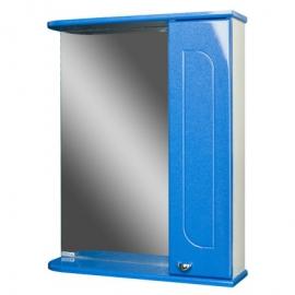 Шкаф навесной с зеркалом   РАДУГА 50  Синий металлик-R правый