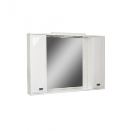 Шкаф навесной с зеркалом  Элегант 65-Эл с электрикой Люкс
