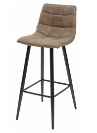 Барный стул SPICE серо-коричневый, микрофибра