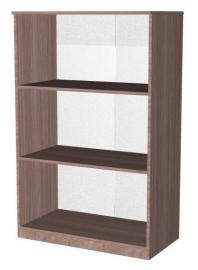 Шкаф-стеллаж открытый трёхярусный ,двухсекционный Эконом