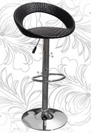 Барный стул 4000 темный ротанг