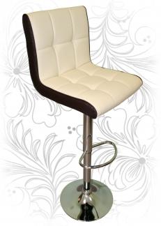 Барный стул 5006 кремово-коричневый