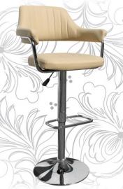 Барный стул 5019 кремовый с подлокотниками