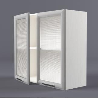 Шкаф навесной 800 х 720 х 300 рамка со стеклом