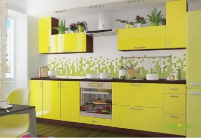 """Кухонный гарнитур """"Желтая река"""" 2800мм"""